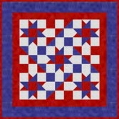 Patriotic Star Wallhanging